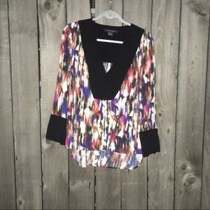 French Connection US 0 | Watercolor Print Blouse